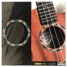 Inlay Sticker Decal for Concert Ukulele - Soundhole Rosette/Purfling - Native American Pattern - Natural