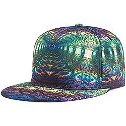 Gorras Beisbol ZARLLE Hombre Mujer Sombrero De Snapback Plano Al Aire Libre Flor Hip-Hop Gorra De BéIsbols Viseras ImpresióN A Color PatróN Sombrero Gorras Gorra De BéIsbol (talla única, A)
