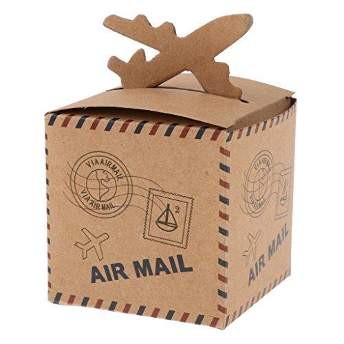 Generic 50 X Konfektschachteln Geschenkboxen Baby-Dusche Hochzeits Bevorzugungs - Flugzeug, L - Süßigkeiten Baby-dusche-bevorzugung