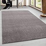 Teppich Kurzflor Modern Wohnzimmer Einfarbig Meliert Uni günstig Versch. Farben - Beige, 120x170 cm
