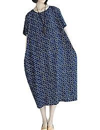 P Ammy Fashion Women s Plus Size voguees Checkered Long Shirts Boho Dress 3bb72ece738b