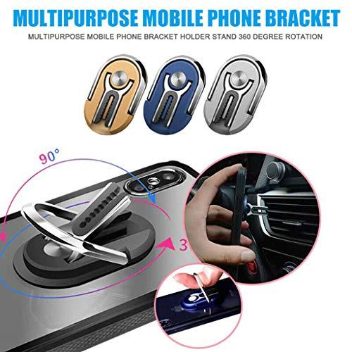 99AMZ Handyhalter fürs Auto & Handy Ring Halter   2 in 1 Innovative Design   Multifunktion Autohalterung Lüftung Lüftungsschlitz Belüftung KFZ Phone Halterung Handy Halter für Smartphones (Black)