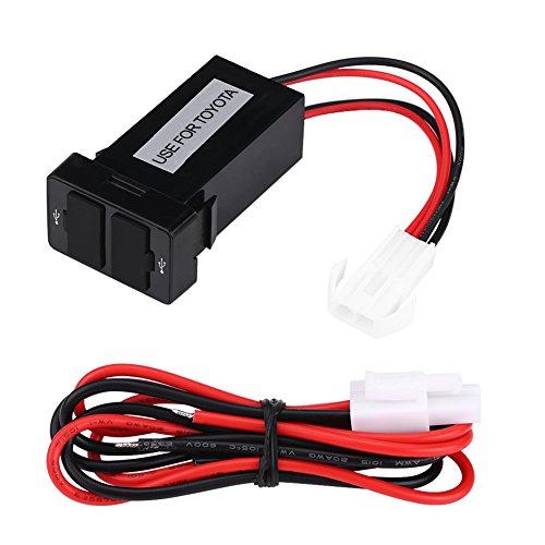 Kongqiabona Dual USB Port 4.2A Affichage de la Tension Moto Chargeur Adaptateur Alimentation LED Voltm/ètre SAE Adaptateur De Charge pour Moteur De Voiture Universel