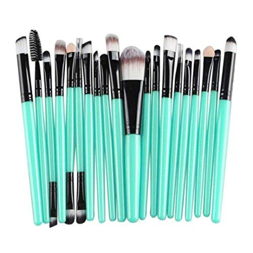 BZLine Pinceau Maquillage, 20Pcs Pinceaux Professionnel & Brush Cosmétique pour Les Poudres, Anticernes, Contours, Fonds de Teints et Eyeliner (B_02)