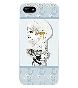 ColourCraft Abstract Back Case Cover for APPLE IPHONE 5