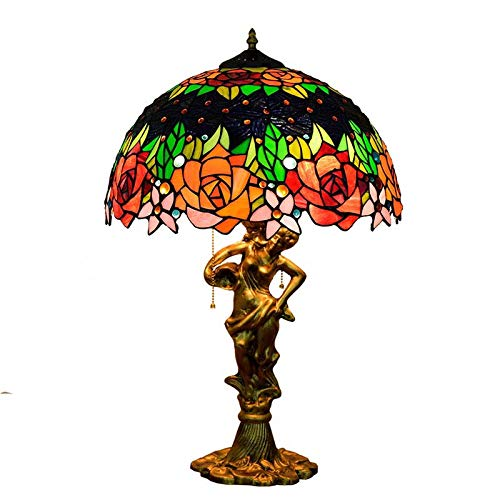 QCKDQ Lámpara de Mesa de Estilo Tiffany de 16 Pulgadas, lámpara de...