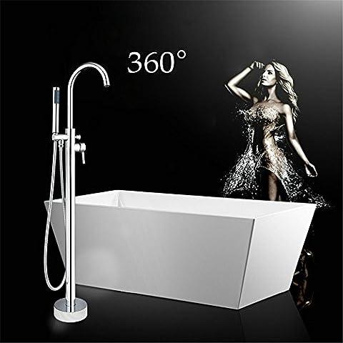 Nous tougmoo Chrome poli Support Baignoire Robinet mitigeur bain douche sur pied sortie de robinet de salle de bain Poignée robinet de salle de bain