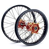 "TARAZON MX Radsatz Rad Felge wheel Radnabe Vorderradfelge 21"" X 1,60"" + Hinterradfelge 19"" x 2,15"" für KTM SX SXF EXC XC XC-F 125-530 03-14"