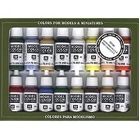 Vallejo Model Color Set - Basic Colors USA (x16 Colours) - VAL70140