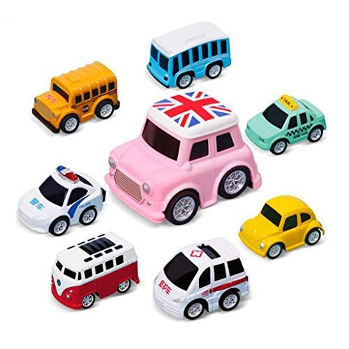 Mini Toy Cars ziehen sich zurück Auto-Spiel-Set Cartoon Fahrzeug LKW für 2 3 4 5 6 Jahre alt Kleinkinder Kinder Jungen Party Favors Geburtstag Kuchen Topper Dekorationen Pinata Füllstoff Weihnachtsstr