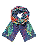 Desigual Damen Schal Foulard_Rectangle ATENAS, Blau (Navy 5000), One Size (Herstellergröße: U)