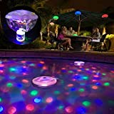UxradG Colorful LED Bad Licht Pool Wasserdicht Schwimmende Lichter für Kinder Baden Zeit, Pool Party