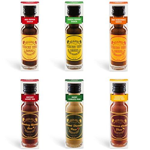 Mexican Tears® - 6er Pack, scharfe Sauce aus Habanero Chili, Chipotle & Meersalz, perfekt zum BBQ, Pulled Pork und zum Würzen von Low Carb Gerichten [3x100ml Chili Sauce] (Bbq-sauce-pulver)