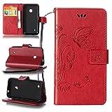 ZeWoo Folio Custodia in PU Pelle - LD108 / Bel rosso - per Nokia Lumia 530 Custodia Protettiva