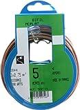 Profiplast PRP522716 - Rollo de cable (5 M, HO3VHH 2 x 0,75 mm), color dorado