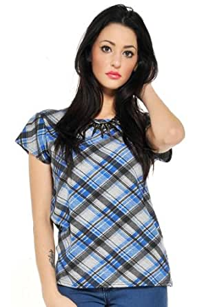 So in Fashion Women's Tartan T-Shirt - 14