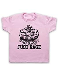 No Roids Just Rage Bodybuilding Culture Slogan Camiseta para Niños