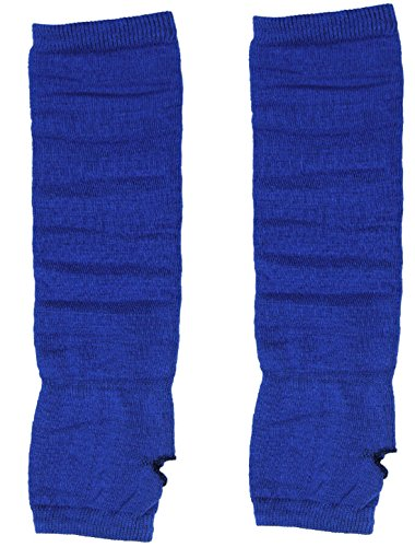 sourcingmap® Damen Acrylic Elastisch Fingerlos Daumenloch Ärmelschoner Armstulpen Blau de (Handgelenk-handschuh Stricken Palm,)
