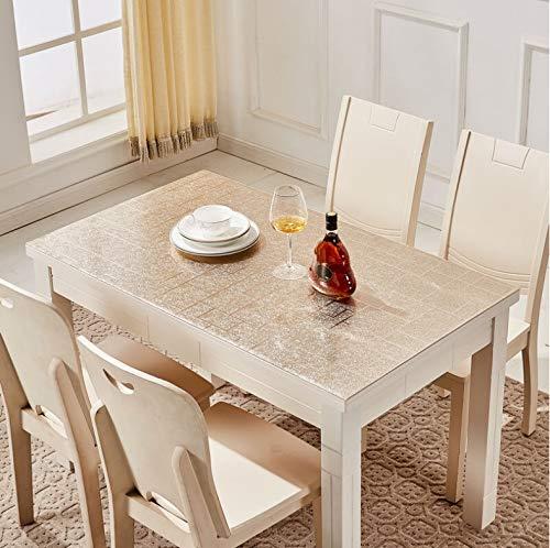 Fenjinsheng tovaglia protettiva per tavolo copritavola in plastica morbida tovaglia in plastica in pvc stuoia da tavolo in plastica a prova di olio