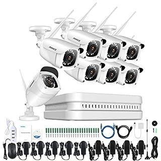 ANNKE Wireless Überwachungskamera System ohne Festplatte 8Kanal 1080P Wireless HDMI NVR mit 8 Außen 2.0MP 1080P WLAN Kamera Video Überwachungsset, 30M IR Nachtsicht, Schnellzugriff, Bewegungserkennung