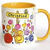 Namenstasse, Bürotasse, Tasse mit Namen, Freundschaftstassen, Dankeschön Geschenk, Danke sagen, Kaffeebecher für Morgenmuffel und Langschläfer, Geschenkidee für Frauen, Geschenkidee für Freund, Freundin, Tochter, Sohn, Kollege, Kollegin, Designertasse