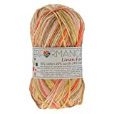 maDDma ® Strickgarn Linen Fun 50g #9075 rosa- rot- braun