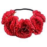 JUNGEN Bandeau Cheveux de Mariage Floral Couronne de Fleurs pour Femme File
