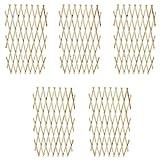 WT Trade 5er Set Ausziehbarer Spalierzaun Rankgitter aus Holz 90 x 180 cm | Spalier Rankhilfe Gitter Scherenspalier | zusammenfaltbar Gartenzaun variabel Verstellbar