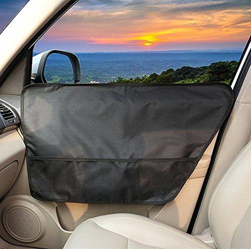 BASELIFE Pet Car Door Cover Wasserdichter Polyester-Schutz für Rücksitz-Türen, kratzfest und maschinenwaschbar, sicher für Hunde, für alle geeignet (2-Pack) - Tür Garage Hund