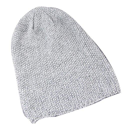 Fleece-schwergewicht Hat (Tefamore Männer Frauen Hüte Caps Hip Hop Street Dancers stricken Mützen (Grau))