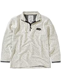 Weird Fish Mens 'Cruiser' Macaroni Classic 1/4 Zip in Ecru Top. Size XX Large