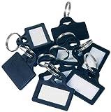 Rottner T01468 - Etiquetas de identificación con anillas (plástico, 10 unidades), color negro
