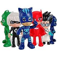 New 6 Pcs/set PJ Masks Boy Figures Popular Cartoon Toys for Kids - Nuevas 6 PC / set PJ Masks Muchacho Figuras populares Juguetes de dibujos animados para niños