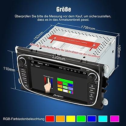 Pumpkin-Android-80-Autoradio-Radio-fr-Ford-Focus-Mondeo-mit-Navi-Untersttzt-Bluetooth-DAB-USB-CD-DVD-WLAN-4G-Android-Auto-MicroSD-2-Din-7-Zoll-Bildschirm-Schwarz
