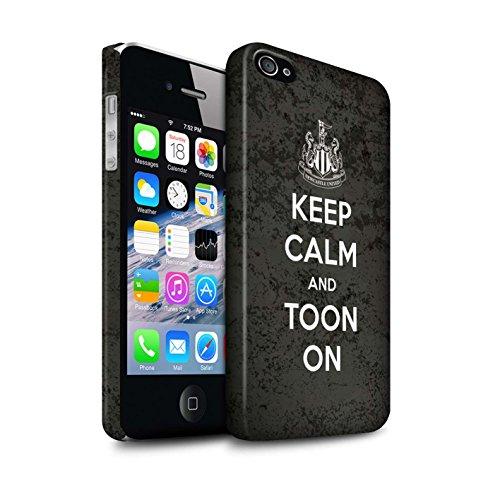 Officiel Newcastle United FC Coque / Clipser Matte Etui pour Apple iPhone 4/4S / Pack 7pcs Design / NUFC Keep Calm Collection Toon Sur