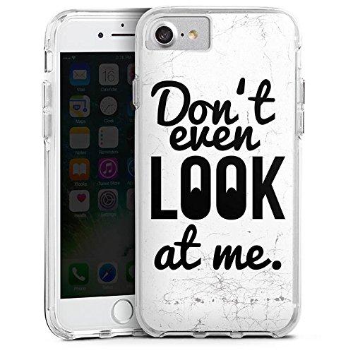 Apple iPhone 7 Bumper Hülle Bumper Case Glitzer Hülle Sayings Phrases Sprüche Bumper Case transparent