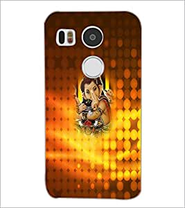 PrintDhaba Lord Ganesha D-4533 Back Case Cover for LG NEXUS 5X (Multi-Coloured)