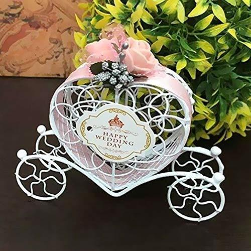 MElnN 6PCS Cinderella Kutsche Candy Kiste, Party Geschenk Geschenkbox für Hochzeit/Reise Themenparty/Braut Dusche Weihnachtsdekoration - Rosa, Einheitsgröße