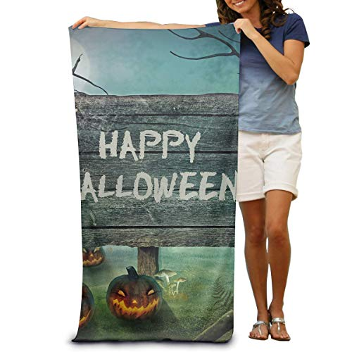 EELKKO Bath Towels Happy Halloween 32