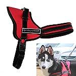 Chinatera Comfortable Medium Large Size Dog Pet Adjustable Soft Chest Harness (Black, S: chest 50-60cm) 15