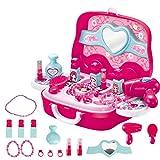 Juguetes educativos para niños,CHshe,Juego de tocador para niños Juguete de simulación para niños Juguetes de educación temprana Juegos de rompecabezas (rosado)