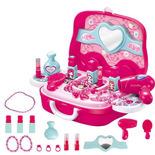 Juguetes educativos para niños,CHshe❤❤,Juego de tocador para niños Juguete de simulación para niños Juguetes de educación temprana Juegos de rompecabezas (rosado)