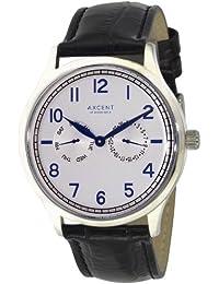 Axcent IX13833-617 - Reloj para mujeres, correa de cuero color negro