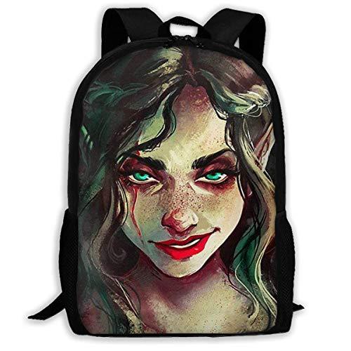 ADGBag School Backpack Goth Gothic Women Girl Smile Bookbag Casual Travel Bag for Teen Boys Girls Shoulder Bag Book Scholl Travel Backpack Kinderrucksack Rucksack Gothic School Girl