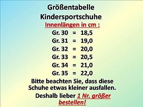 GIBRA® Kinder Sportschuhe, schwarz/neongrün, Gr. 30 - 35 Schwarz/Neongrün