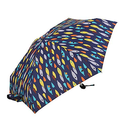 SHILILI Flat Lightweight Umbrella Parasol Faltbarer Sonnenschirm Mini Umbrella 50-Fach Flat Light Pocket Bag Mini Umbrella - Burberry Light