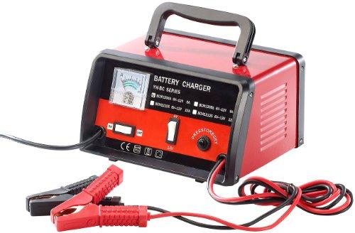 Lescars Autobatterie Ladegerät: Profi-Batterieladegerät für 6 V / 12 V, max. 6 A (Batterieladegerät Kfz)