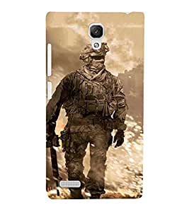Cartoon, Blue, Cartoon and Animation, Soldier, Printed Designer Back Case Cover for Xiaomi Redmi Note :: Xiaomi Redmi Note 4G :: Xiaomi Redmi Note Prime
