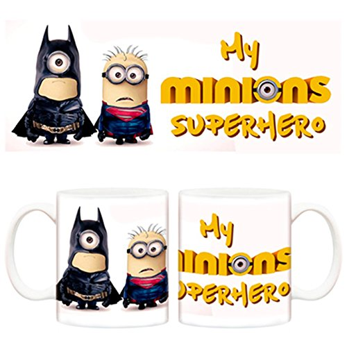 Taza Minions Batman y Superman