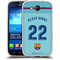 Official FC Barcelona Aleix Vidal 2017/18 Players Away Kit Group 1 Soft Gel Case for Samsung Galaxy Grand Neo